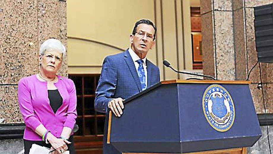 Gov. Dannel P. Malloy and Lt. Gov. Nancy Wyman Photo: Christine Stuart Photo