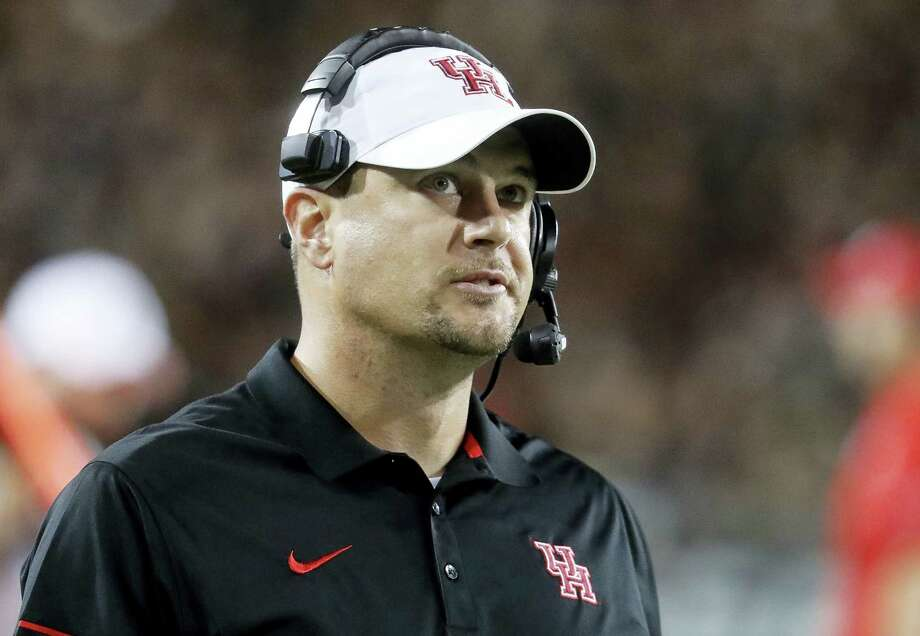 Houston coach Tom Herman has told the school he is leaving to become the next coach of the Texas Longhorns. Photo: The Associated Press File Photo  / AP
