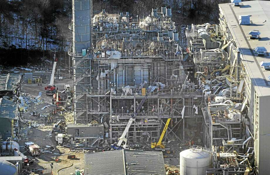 The Kleen Energy plant is seen in this aerial photo after an explosion in Middletown on Feb. 7, 2010. Photo: AP Photo — Jessica Hill  / AP2010