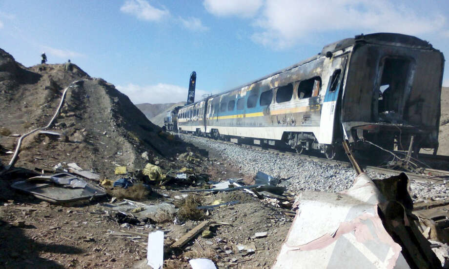 This picture released by Iranian Fars News Agency shows the scene of two trains collision about 150 miles (250 kilometers) east of the capital Tehran, Iran, Friday, Nov. 25, 2016. An Iranian official has told state TV that the death toll from a train collision in the country's north has increased to 31. The provincial governor, Mohammad Reza Khabbaz, says that so far 31 bodies have been found at the site of the crash on Friday morning. Photo: Saeed Esmaeilpour, Fars News Agency Via AP   / Fars News Agency