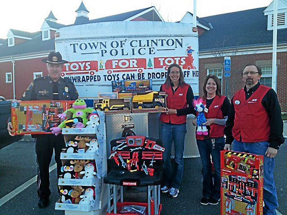 Last year's Clinton police holiday toy drive was the recipient of, among many donations, a truckload of items worth $2,100 from employees of Stewards Ace Hardware in Clinton. Photo: File Photo