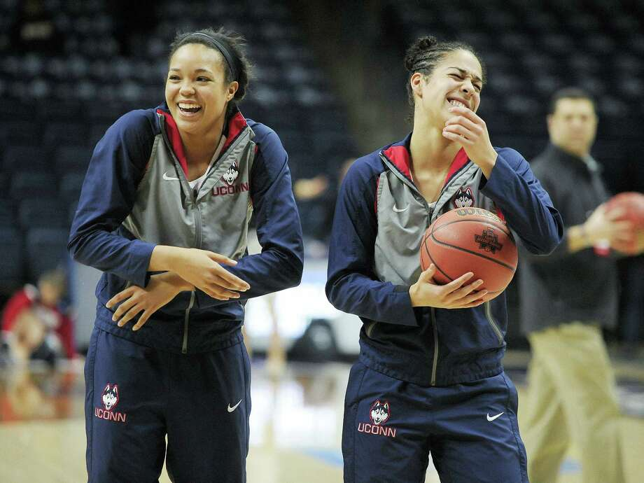 UConn freshman Napheesa Collier, left, has scored in double digits in her first two NCAA tournament games. Photo: Jessica Hill — The Associated Press  / AP2016