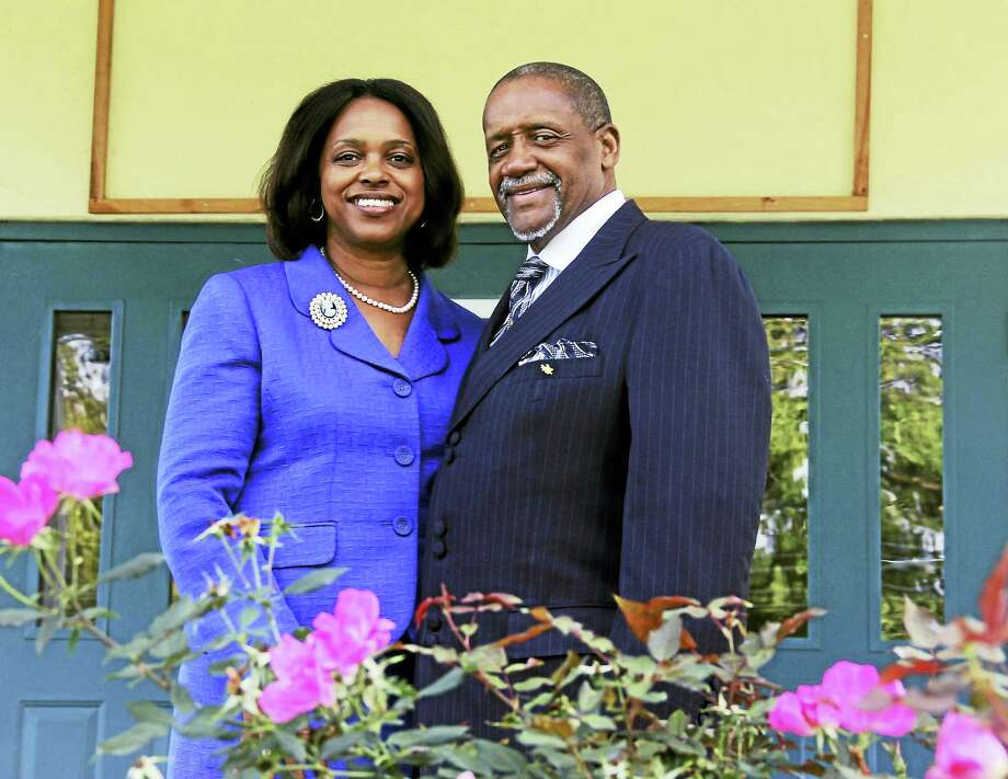 Bishop W. Vance Cotten and his wife, the Rev. Dr. Kim L. Cotton, are copastors at Shiloh Baptist Church on Butternut Street in Middletown. Among the many initiatives established by the couple and their congregation are affordable housing for more than 40 residents and a credit union on the church's ground floor. Photo: Kathleen Schassler — The Middletown Press  / Kathleen Schassler All Rights
