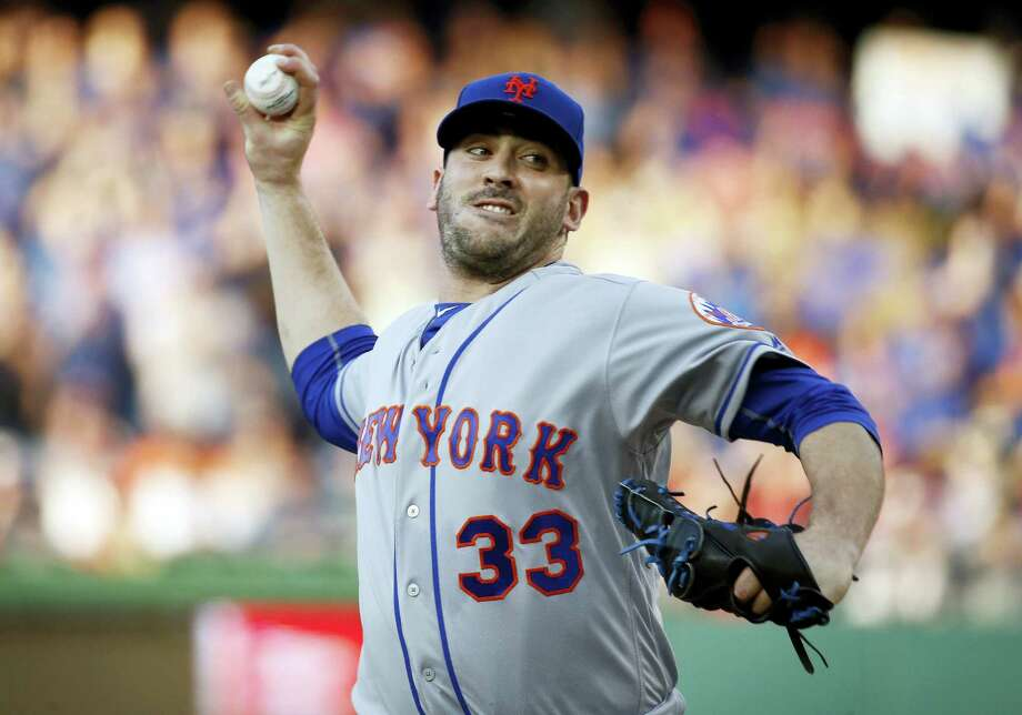 New York Mets starter and Mystic native Matt Harvey throws during the first inning of a baseball game against the Washington Nationals, which hammered Harvey for the second straight time. Photo: ALEX BRANDON - THE ASSOCIATED PRESS  / Copyright 2016 The Associated Press. All rights reserved. This material may not be published, broadcast, rewritten or redistribu