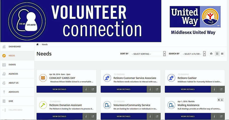 Local nonprofits are invited to post volunteer needs to Middlesex United Way's volunteer connection website. Photo: Courtesy Photo