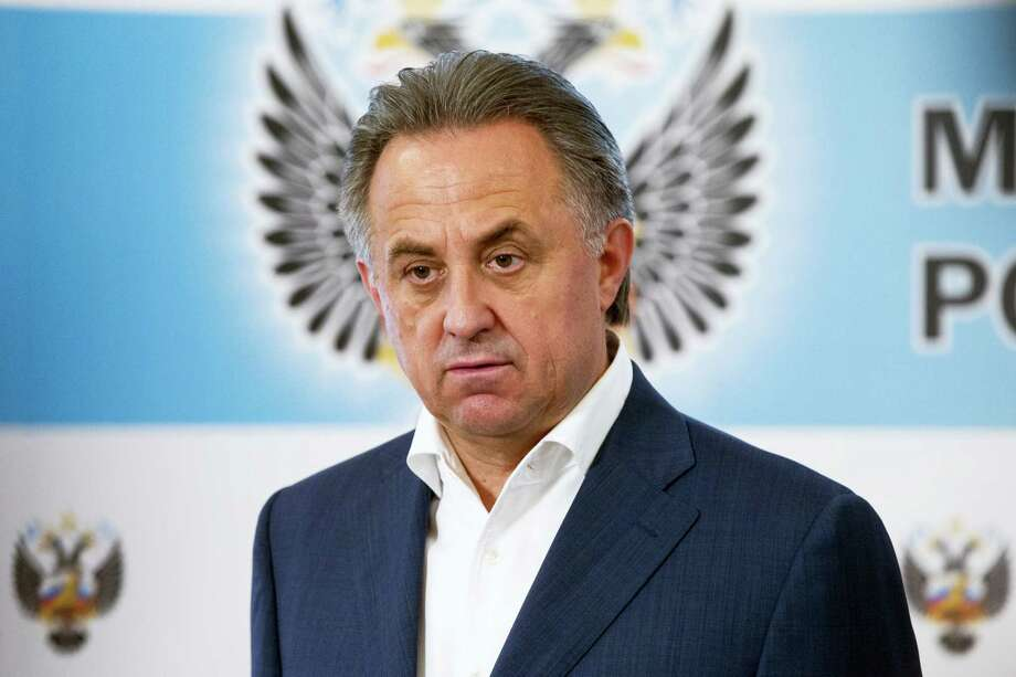 Russian Sports Minister Vitaly Mutko speaks to the media in Moscow, Russia on July 24, 2016. Olympic leaders stopped short Sunday of imposing a complete ban on Russia from the Rio de Janeiro Games, handing individual global sports federations the responsibility to decide which athletes should be cleared to compete. Photo: AP Photo/Pavel Golovkin  / Copyright 2016 The Associated Press. All rights reserved. This material may not be published, broadcast, rewritten or redistribu