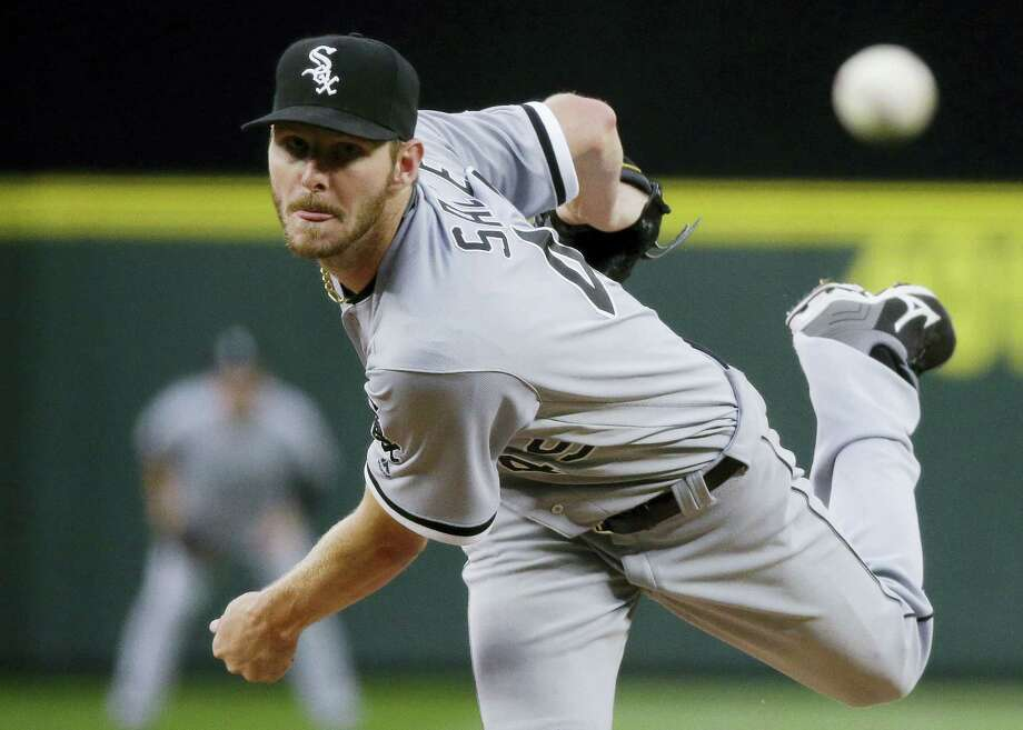 "AP Photo/Ted S. Warren, File In this July 18, 2016 photo, Chicago White Sox starting pitcher Chris Sale throws to a Seattle Mariners batter during a baseball game in Seattle. Sale has been scratched from his start against the Detroit Tigers after he was involved in what the team says was a ""non-physical clubhouse incident."" The White Sox declined to describe the incident, but said it's ""currently under further investigation by the club"" and that Sale was sent home from the park. Photo: AP / Copyright 2016 The Associated Press. All rights reserved. This material may not be published, broadcast, rewritten or redistribu"