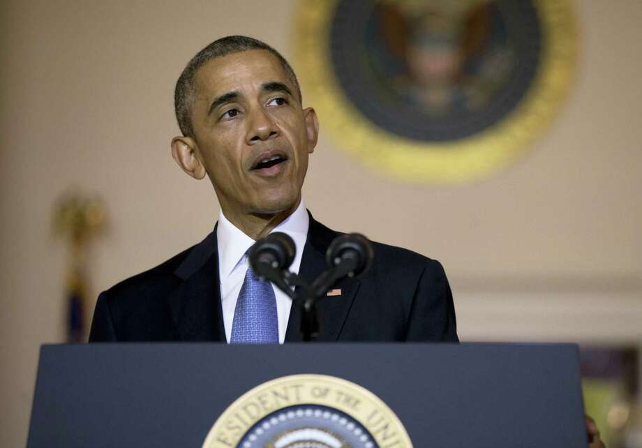 In this May 13, 2016 file photo, President Barack Obama speak at the White House in Washington. Photo: ASSOCIATED PRESS  / Copyright 2016 The Associated Press. All rights reserved. This material may not be published, broadcast, rewritten or redistribu