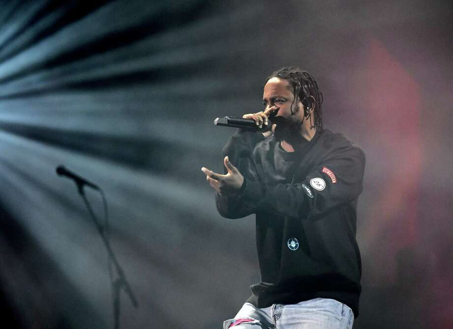 Kendrick Lamar performs at the Global Citizen Festival in New York. on Sept. 24, 2016. Photo: AP Photo/Kathy Kmonicek  / FR170189 AP