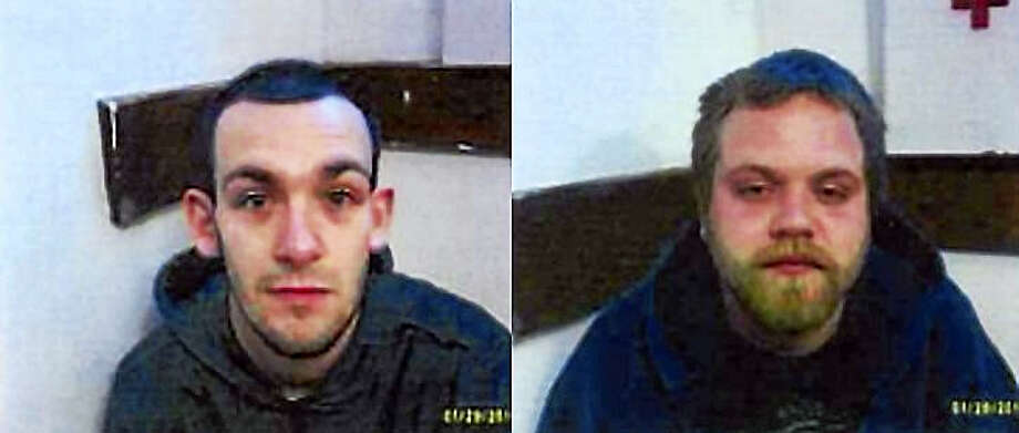 Jake D'Agostino, left, and Robert Perreault Photo: CONNECTICUT STATE POLICE