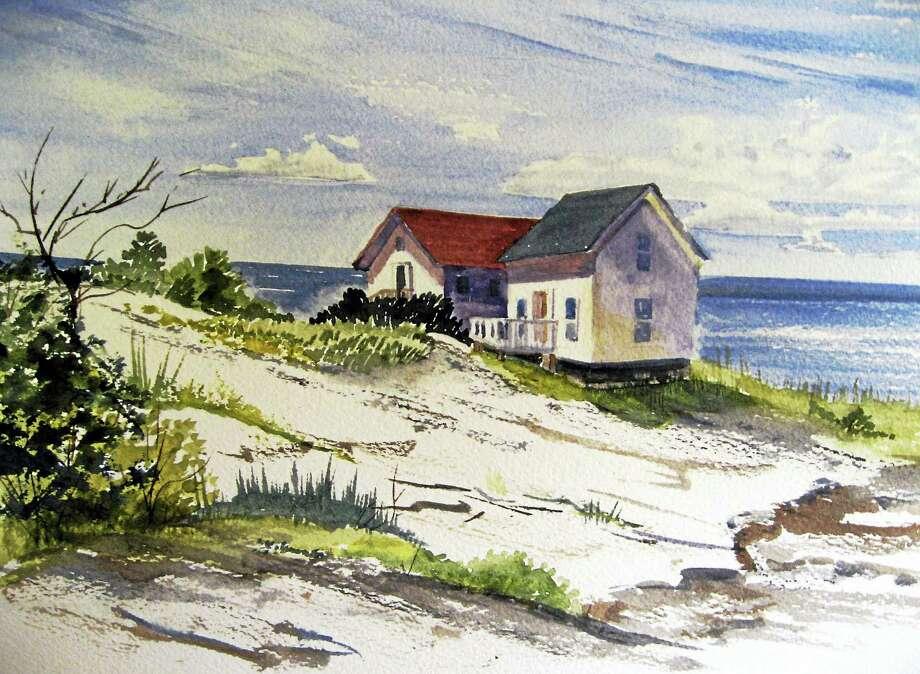 Contributed photoDiane Rubacha's Rocky Shore, a watercolor. Photo: Journal Register Co.