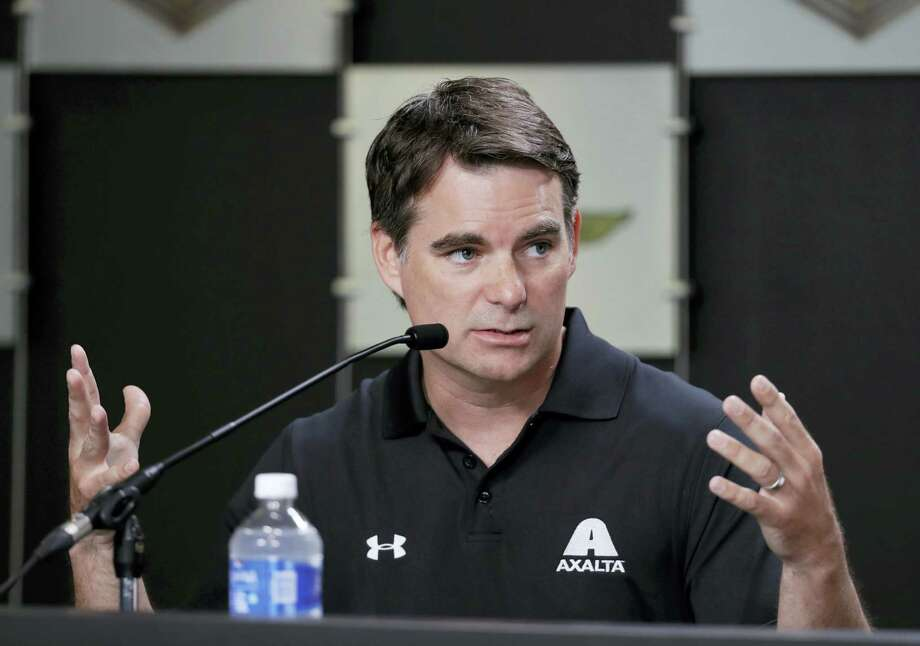 Jeff Gordon responds to a question during a news conference for the Brickyard 400 on Friday. Photo: Darron Cummings — The Associated Press  / Copyright 2016 The Associated Press. All rights reserved. This material may not be published, broadcast, rewritten or redistribu