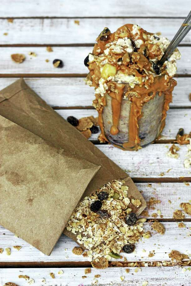 Peanut butter chocolate chip overnight oats cross the line between energy food and total indulgence — and they're for breakfast. Photo: Courtesy ION Restaurant