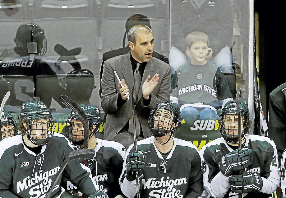 Michigan State head coach Tom Anastos is the chair for the NCAA Ice Hockey Rules Committee. Photo: The Associated Press File Photo  / FR13069 AP