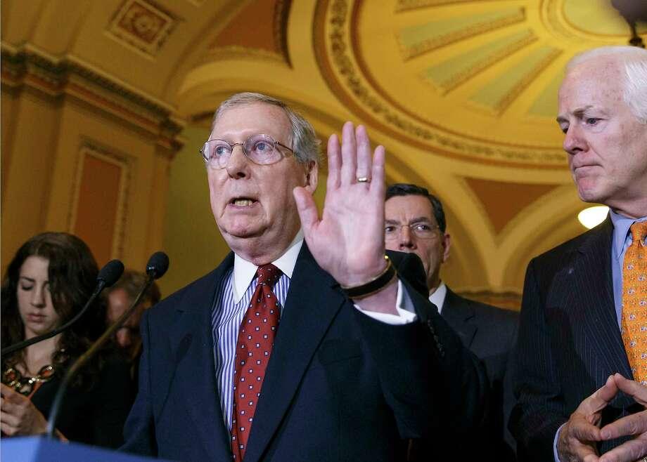 Senate Minority Leader Mitch McConnell of Kentucky Photo: File Photo  / AP