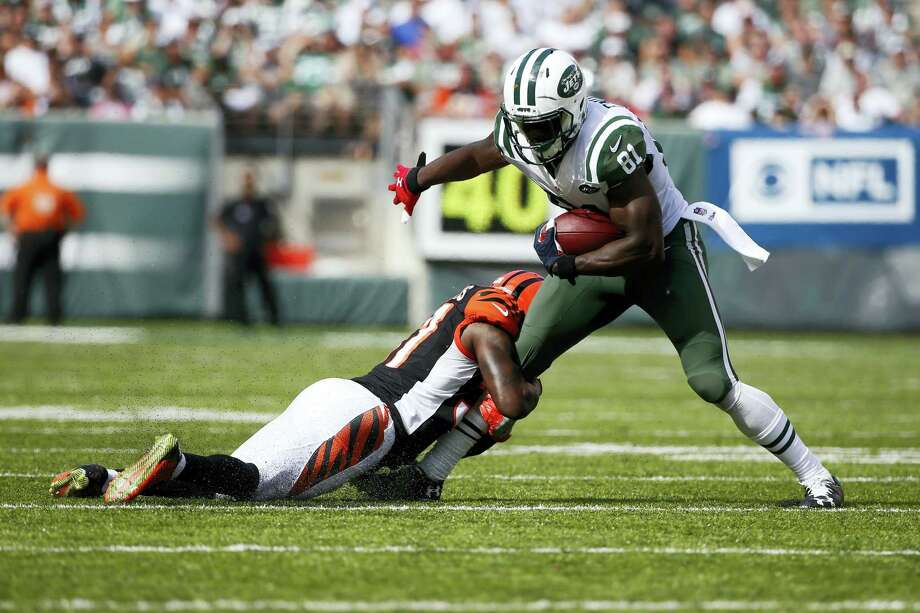 Through two games, Quincy Enunwa is leading the Jets with 13 catches for 146 yards and a touchdown. Photo: Kathy Willens — The Associated Press File  / Copyright 2016 The Associated Press. All rights reserved.