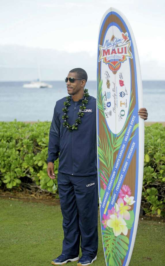 UConn head coach Kevin Ollie poses for a photograph in Lahaina, Hawaii. Photo: Rick Bowmer — The Associated Press  / Copyright 2016 The Associated Press. All rights reserved.