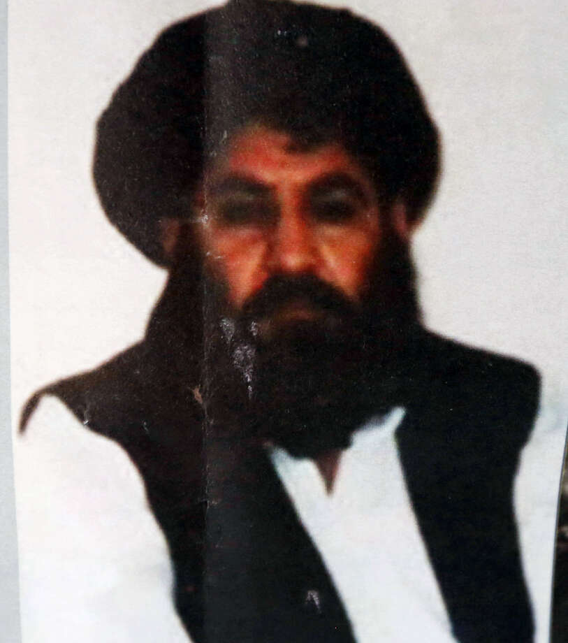 This Aug. 1, 2015 file photo shows Taliban leader Mullah Mansour. The U.S. conducted an airstrike Saturday, May 21, 2016, against the Taliban leader the Pentagon said, and a U.S. official said Mansour was believed to have been killed. Pentagon press secretary Peter Cook said the attack occurred in a remote region along the Afghanistan-Pakistan border. He said the U.S. was studying the results of the attack. Photo: AP Photo — Rahmat Gul, File / AP