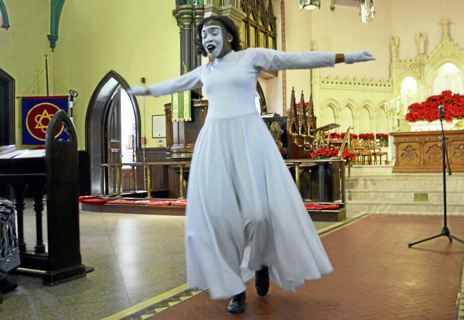 The Cross Street AME Zion Church dancers from the Stir Up The Gift Arts Academy performed during the city's 23rd annual event that marked the civil rights leader's birthday. Photo: Sam Norton — The Middletown Press