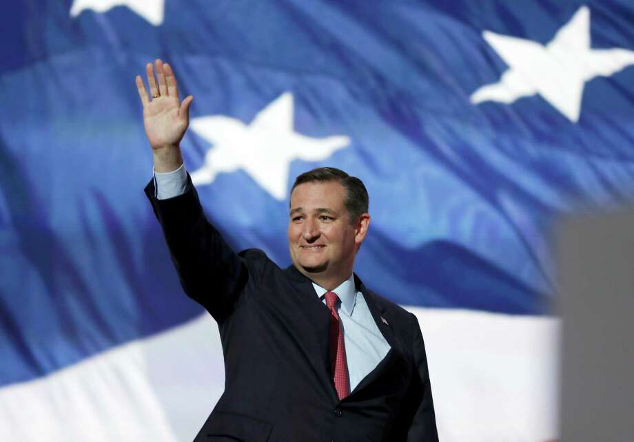 Sen. Ted Cruz, R-Tex., waves before addressing the delegates during the third day session of the Republican National Convention in Cleveland, Wednesday, July 20, 2016. Photo: AP Photo — Carolyn Kaster / Copyright 2016 The Associated Press. All rights reserved. This material may not be published, broadcast, rewritten or redistribu