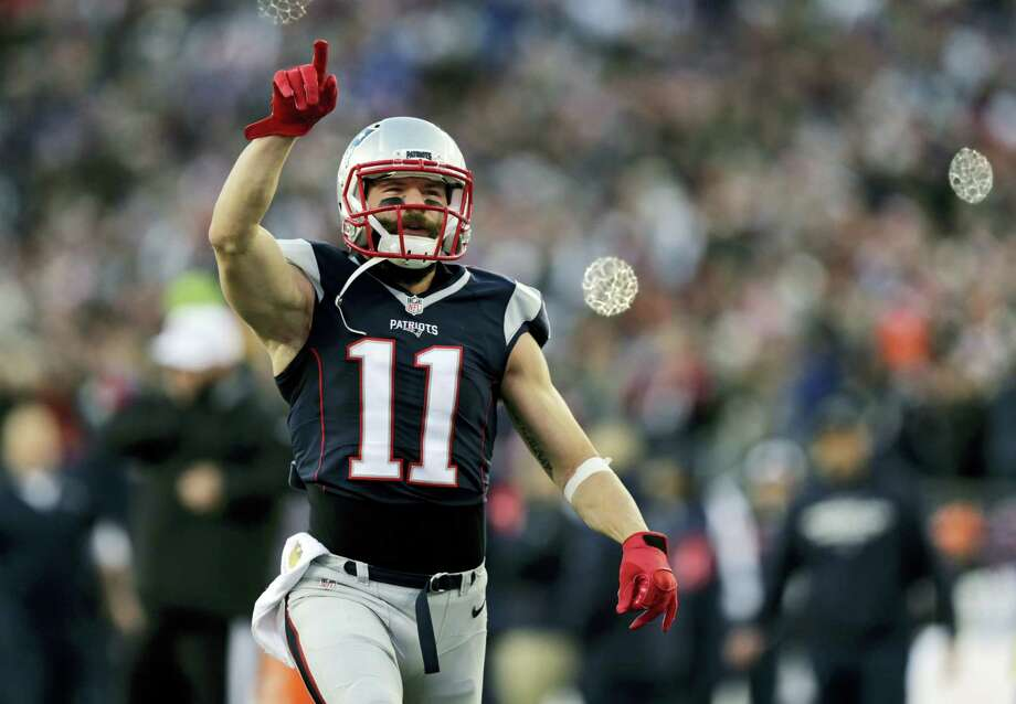 Patriots wide receiver Julian Edelman had 10 catches for a 100 yards in Sunday's win over the Chiefs. Photo: Charles Krupa — The Associated Press  / AP