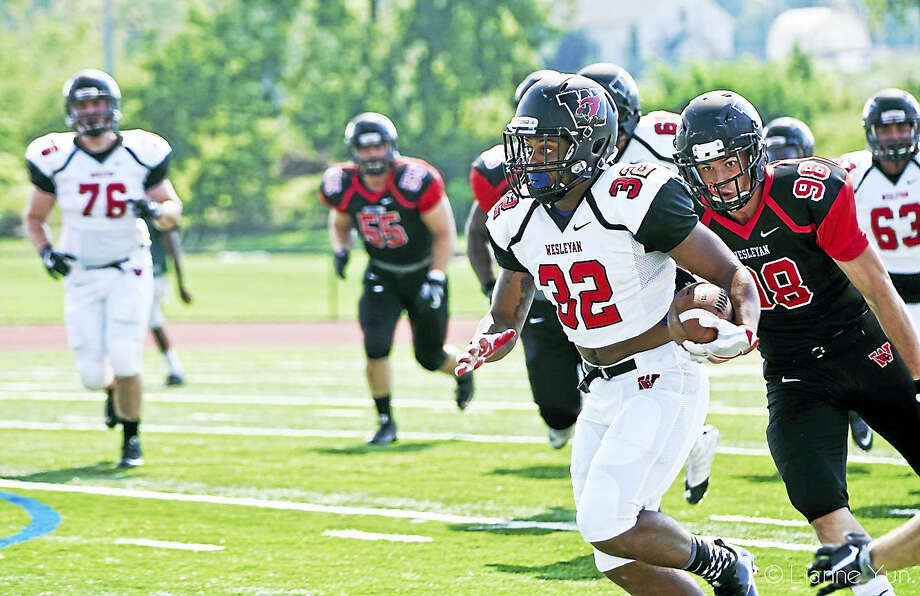 Wesleyan sophomore Dario Highsmith (32) will miss the rest of the 2017 season with an ankle injury. Highsmith is pictured here during his freshman season. Photo: Photo Courtesy Of Wesleyan Athletics