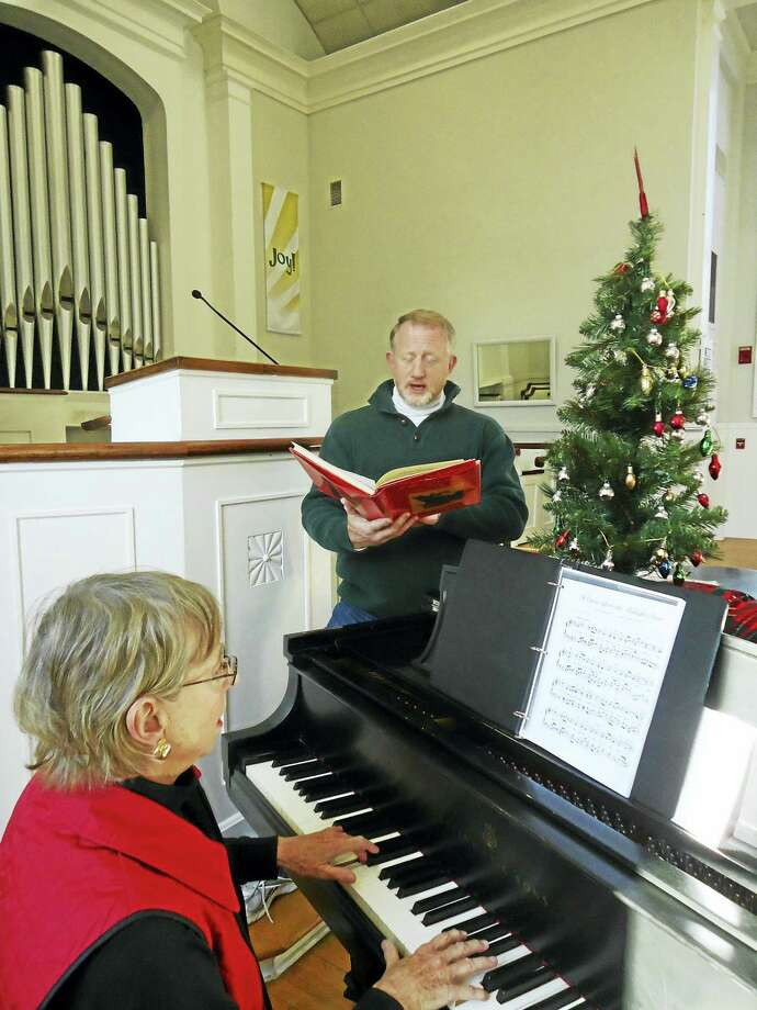 Accompanying photograph:A Christmas Soiree! Rev. Kenneth Peterkin, Pastor of The First Congregational Church in Essex and Essex resident Marian Messek on piano will perform holiday music and lead a carol sing at the Church's Christmas Soiree on December 9 at 5:30 p.m. The evening also features wine and hors d'oeuvres. Admission is $12 per person.   Proceeds from the event benefit the missions of the Church. For more information, call (860) 767-8097 or visit www.essexucc.org. Photo: Digital First Media
