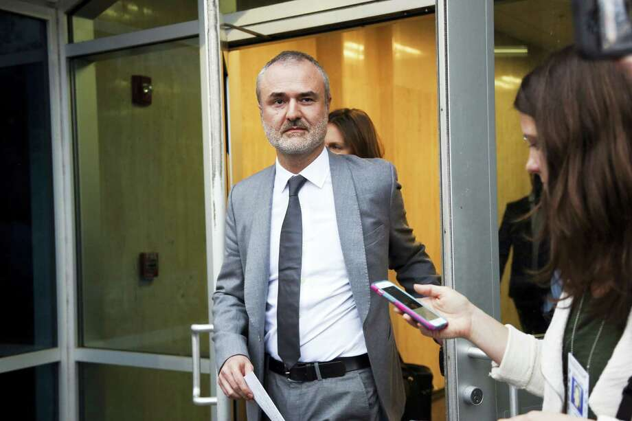 Gawker founder Nick Denton walks out of the courthouse on Friday, March 18, 2016, in St. Petersburg, Fla. Hulk Hogan, whose given name is Terry Bollea was awarded $115 million in damages in his lawsuit against the gossip website Gawker on Friday. Photo: Eve Edelheit/The Tampa Bay Times Via AP   / Tampa Bay Times