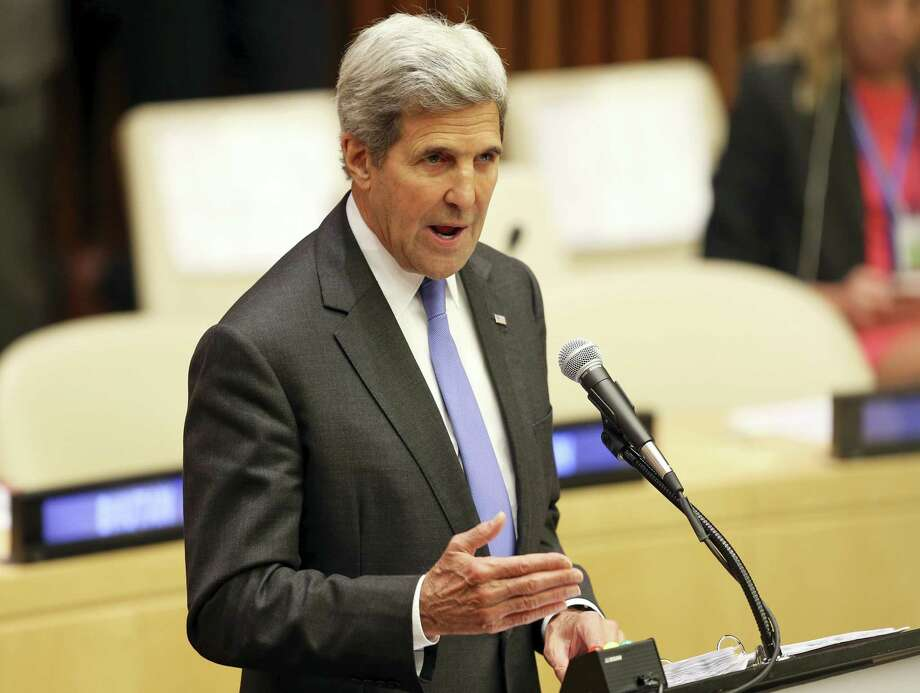 U.S. Secretary of State John Kerry speaks during the Summit for Refugees and Migrants at U.N. headquarters on Monday. Photo: AP Photo — Seth Wenig   / Copyright 2016 The Associated Press. All rights reserved.
