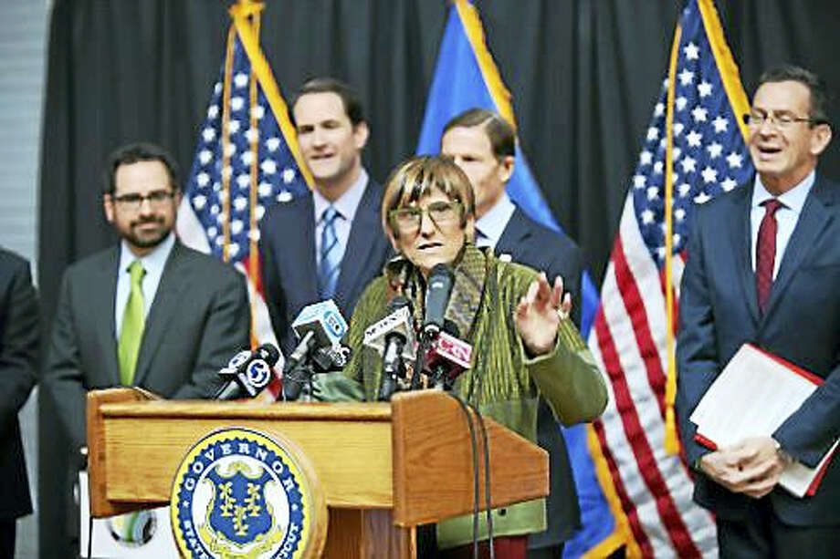 U.S. Rep. Rosa DeLauro and colleagues Photo: CT News Junkie File Photo