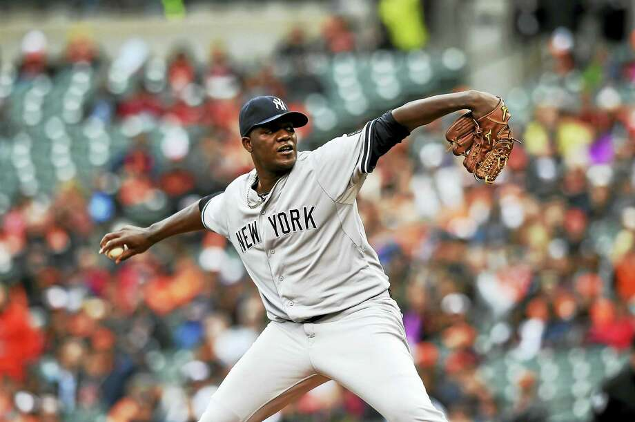 Yankees starting pitcher Michael Pineda. Photo: The Associated Press File Photo  / FR4095 AP