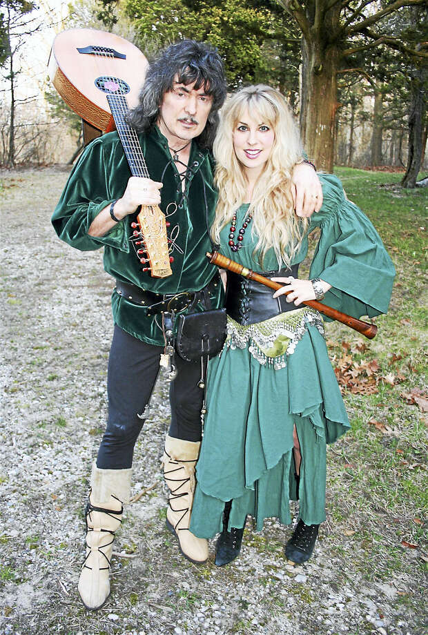 Contributed photo Guitarist Ritchie Blackmore, of Deep Purple fame, will bring his Blackmore's Night to the Ridgefield Playhouse for a  concert appearance on Friday, Aug. 12. Above are Blackmore and Candace Knight. Photo: Journal Register Co.