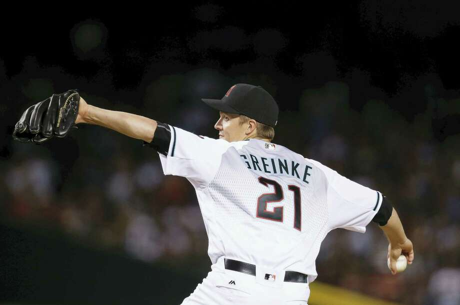 Arizona Diamondbacks' Zack Greinke throws a pitch against the New York Yankees during the seventh inning of a baseball game Tuesday, May 17, 2016, in Phoenix. The Diamondbacks defeated the Yankees 5-3. (AP Photo/Ross D. Franklin) Photo: AP / Copyright 2016 The Associated Press. All rights reserved. This material may not be published, broadcast, rewritten or redistribu