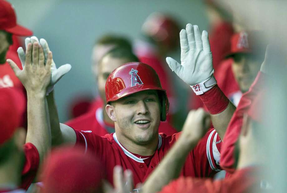 The Angels' Mike Trout was named the American League Most Valuable Player. Photo: The Associated Press File Photo  / FR159797 AP