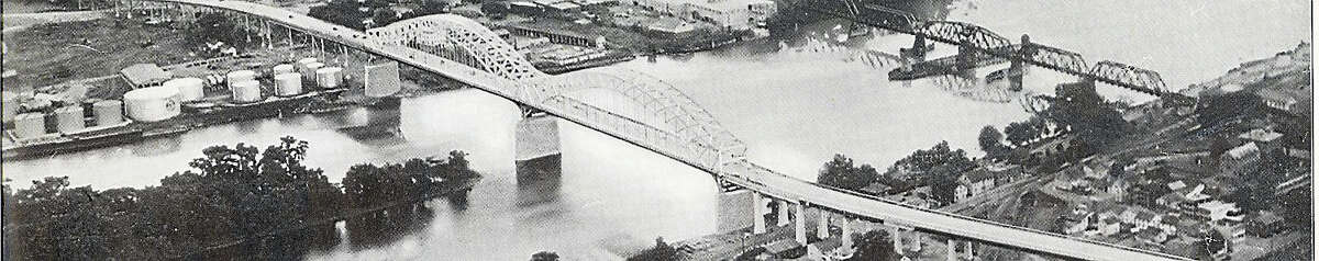 Shown is an aerial view of the Middletown-Portland Bridge, which was dedicated Aug. 6, 1938. The Portland Bridge was not rechristened the Arrigoni Bridge until the 1960s.