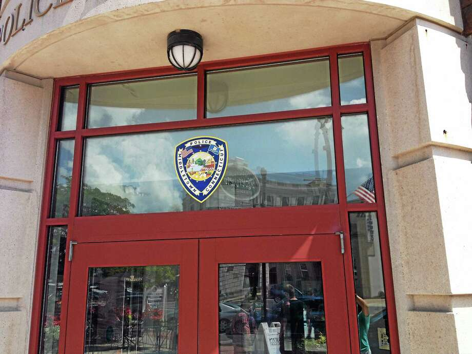 The entrance of the Middletown Police Department. Photo: Middletown Press File Photo