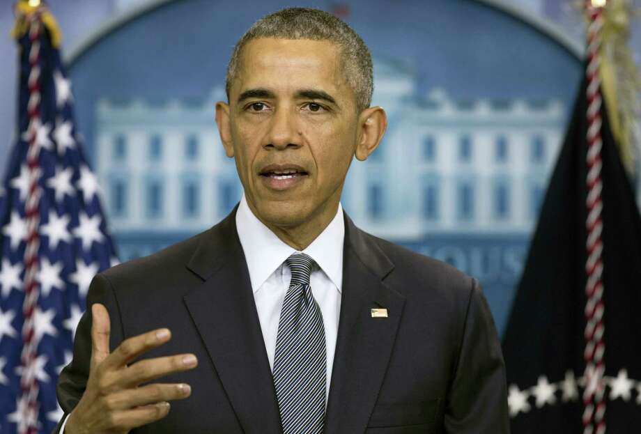 In this May 6 photo, President Barack Obama speaks in the briefing room of the White House in Washington. Photo: Carolyn Kaster — The Associated Press  / Copyright 2016 The Associated Press. All rights reserved. This material may not be published, broadcast, rewritten or redistribu