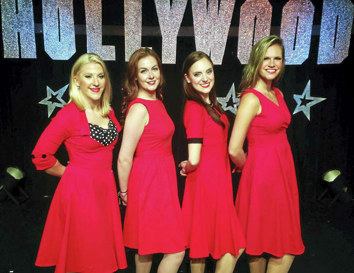 Contributed photo Singers are in the spotlight in the Connecticut Cabaret's holiday show, Babes in Hollywood.