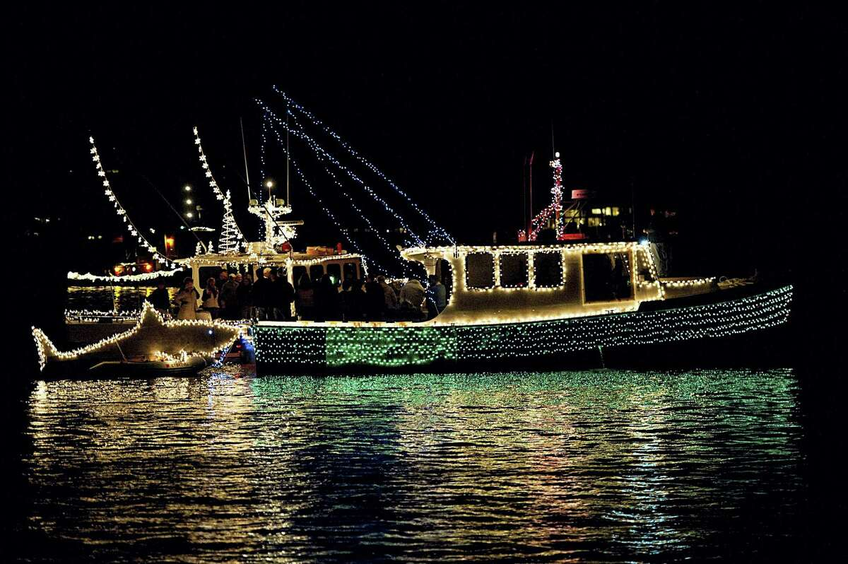Contributed photoA boat festooned with lights and a holiday tree joins last year's Trees in the Rigging celebration at the Connecticut River Museum. This year's event is set for Nov. 27.