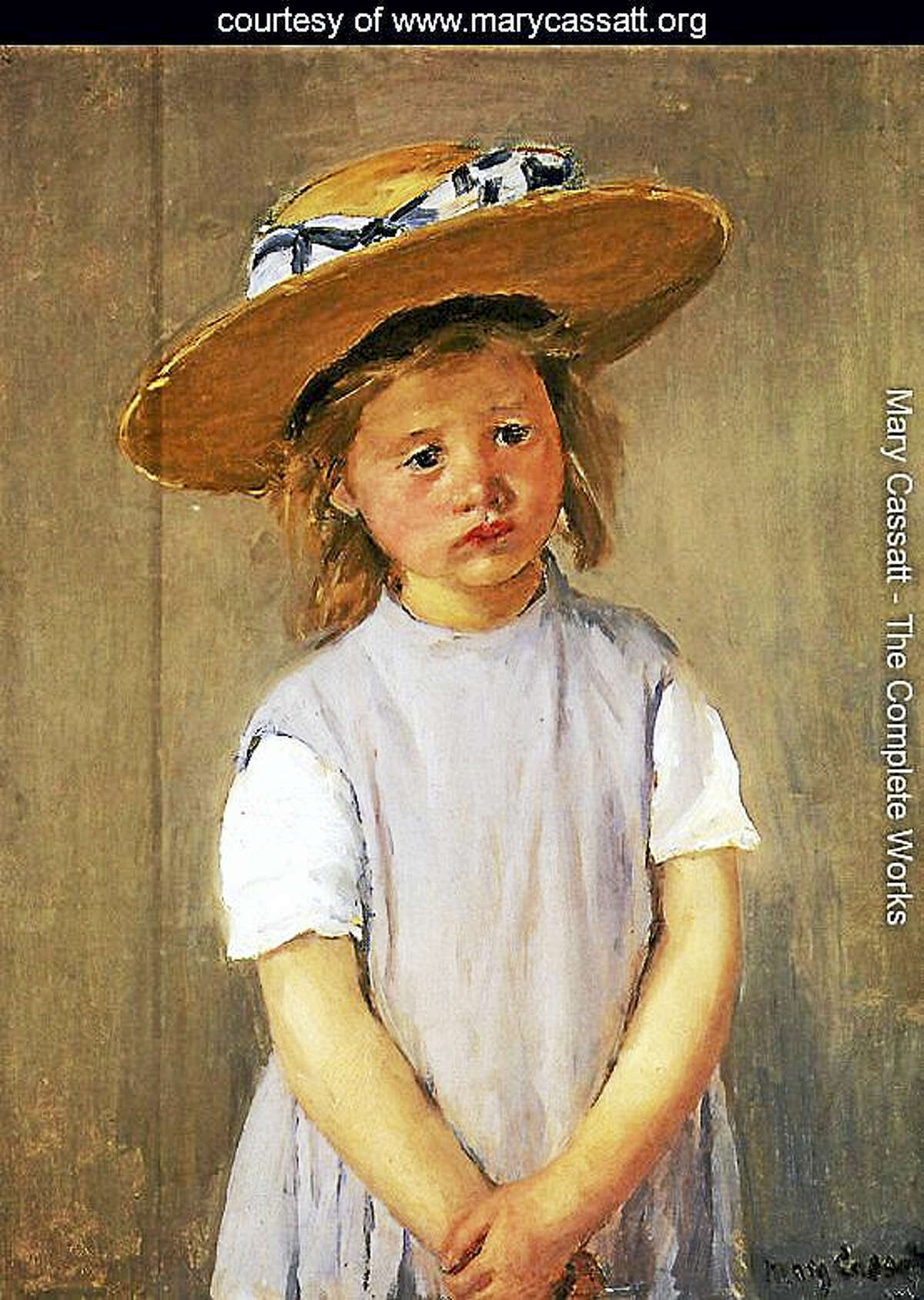 Contributed photoChild in a Straw Hat by Mary Cassatt.