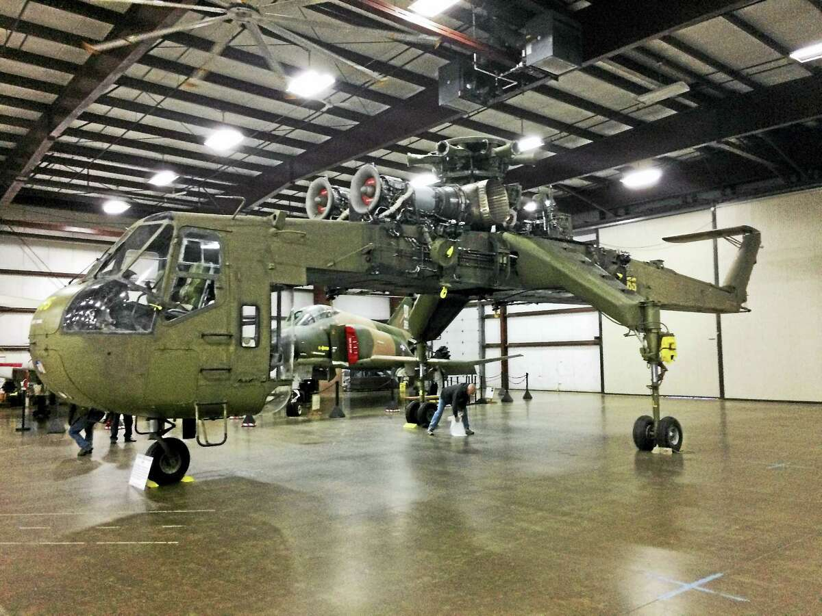Contributed photoThe Skycrane is on display at the New England Air Museum.