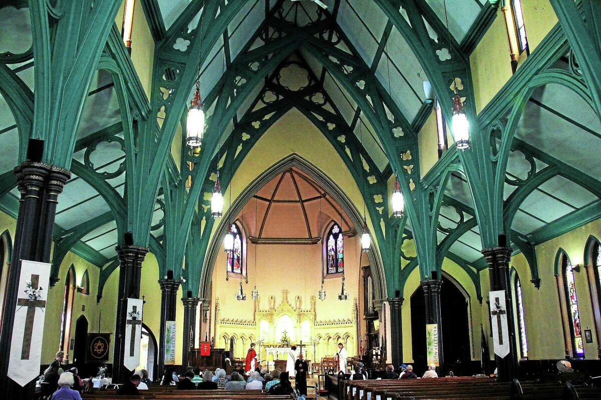 The interior of the Church of the Holy Trinity at 381 Main St., Middletown