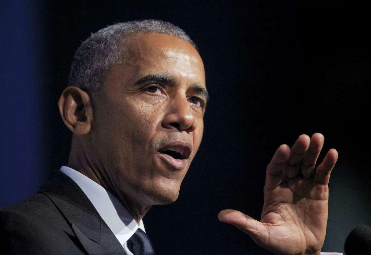President Barack Obama speaks at the Congressional Black Caucus Foundation's annual Legislative Conference Phoenix Awards Dinner on Sept. 17, 2016 in Washington.