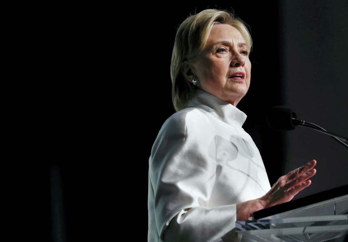 Democratic presidential candidate Hillary Clinton speaks at the Congressional Black Caucus Foundation's Phoenix Awards Dinner at the Washington Convention Center in Washington on Sept. 17, 2016.