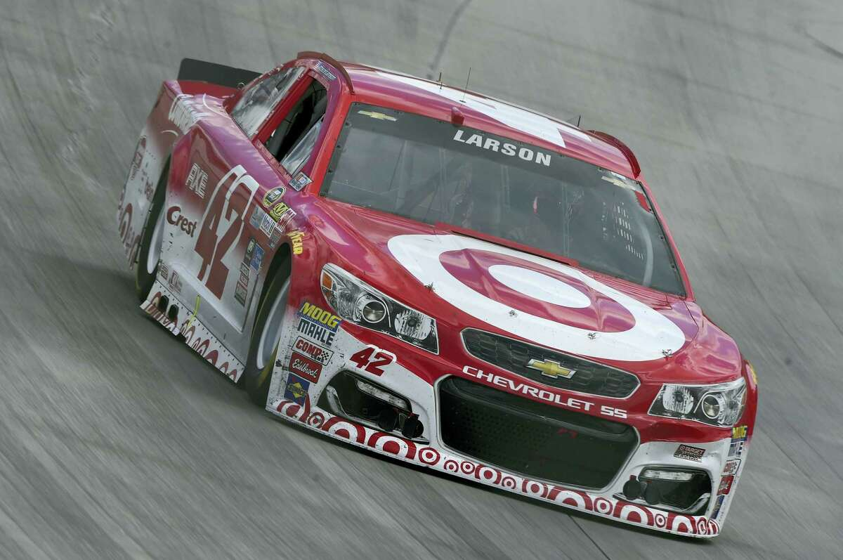 Kyle Larson competes during Sunday's race at Dover International Speedway.