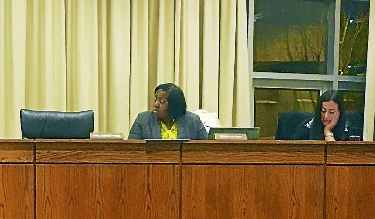 Board of Education Deborah Cain, shown in February, has participated in committee meetings through teleconferencing, which prompted the panel to adopt a policy that would allow the practice under certain conditions.