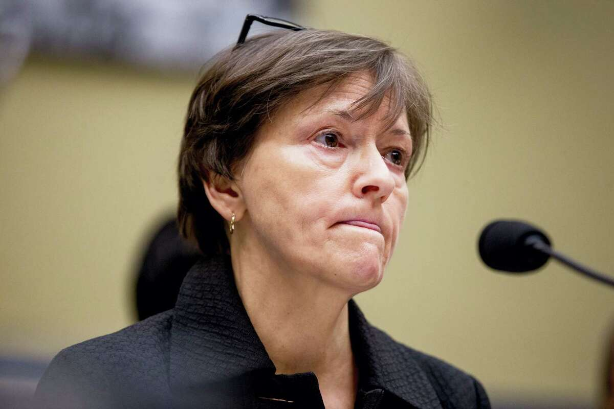 Former State EPA administrator Susan Hedman testifies before a House Oversight and Government Reform Committee, in Washington on March 15, 2016 to examine the ongoing lead water crisis in Flint, Michigan.