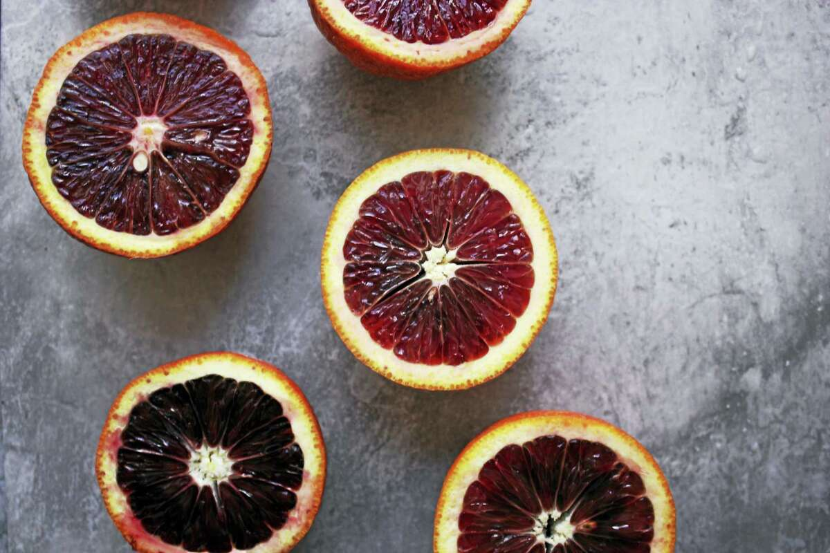 Blood oranges, in season through May, are worth the effort to peel the rather tough outer skin.
