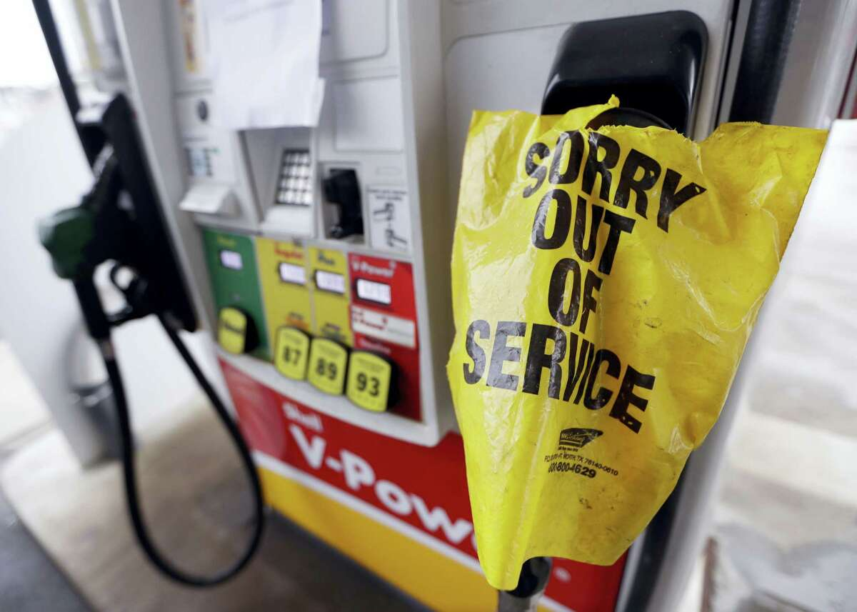 A bag covers a pump handle at a gas station that has no fuel to sell Saturday, Sept. 17, 2016, in Nashville, Tenn. Fuel supplies in at least five states are threatened by a gasoline pipeline spill in Alabama, and the U.S. Department of Transportation has ordered the company responsible to take corrective action before the fuel starts flowing again.