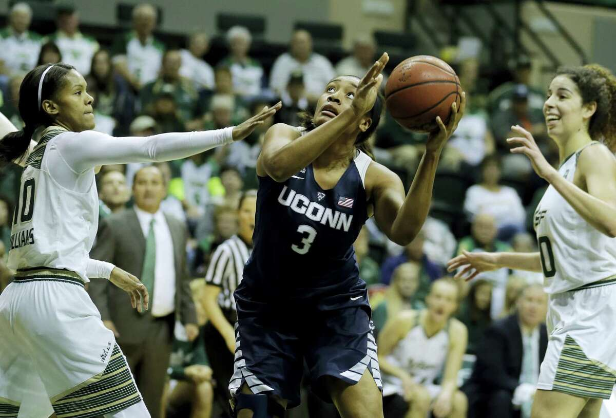 UConn's Morgan Tuck returned to the lineup on Sunday night and was a big contributor for the Huskies.